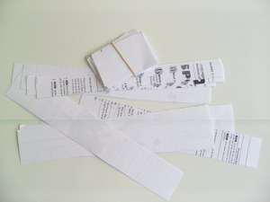 decentralised teaching equipment paper slips